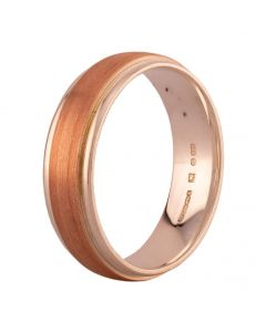 Second Hand Sterling Silver Rose Gold Plated Plain Wedding Ring