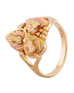 Second Hand 9ct Two Colour Gold Grape Vine Ring