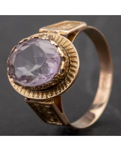 Second Hand Amethyst Oval Fancy Dress Ring 4163787