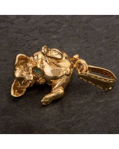 Second Hand 9ct Yellow Gold Dangling Pig Loose Pendant