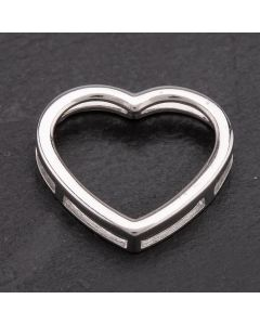 Second Hand White Gold Heart Pendant 4166751