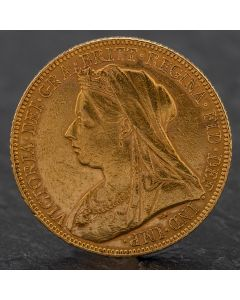 Second Hand Queen Victoria 1900 Full Sovereign Coin