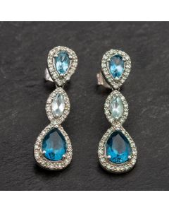Second Hand White Gold Diamond Earrings 4183698