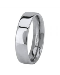 Second Hand 9ct White Gold 5mm Flat Court Wedding Ring
