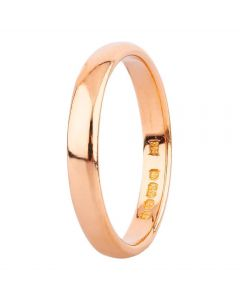 Second Hand 22ct Yellow Gold 3mm Wide Plain Wedding Ring 4187791