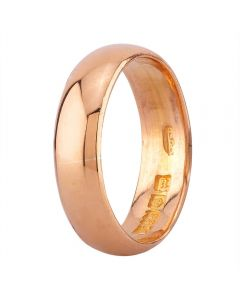 Second Hand 22ct Yellow Gold Plain D-Shaped Wedding Ring