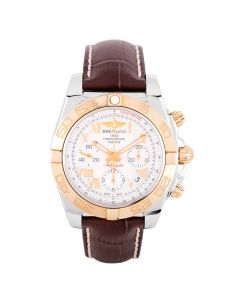 Second Hand Breitling Chronomat 41 Brown Leather Strap Watch CB014012-A748 237X