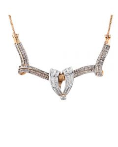 Second Hand 9ct Yellow Gold Diamond Set Necklace
