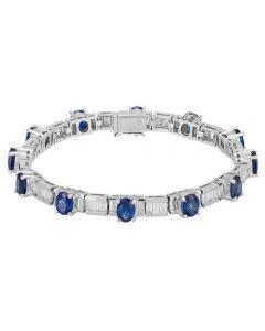 Second Hand 18ct White Gold Sapphire and Diamond Bracelet