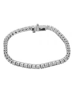 Second Hand 14ct White Gold 5.00ct Diamond Tennis Bracelet