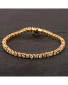 Second Hand 14ct Yellow Gold Diamond Tennis Bracelet