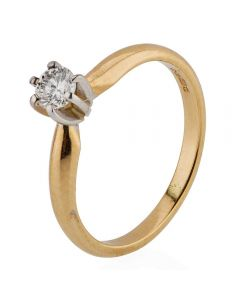 Second Hand 14ct Yellow Gold Diamond Solitaire Ring