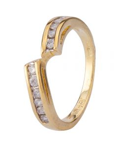 Second Hand 9ct Yellow Gold Diamond Twist Eternity Ring