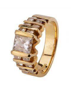 Second Hand 14ct Yellow Gold 1.60ct Diamond Ring