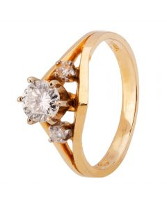 Second Hand 14ct Yellow Gold 0.55ct Diamond Ring
