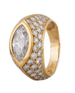 Second Hand 18ct Yellow Gold 2.00ct Marquise Diamond Ring