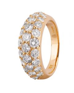 Second Hand 18ct Yellow Gold 2.30ct Pave Diamond Ring