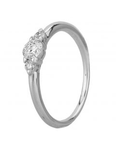 Second Hand Platinum 0.30ct Diamond Three Stone Ring