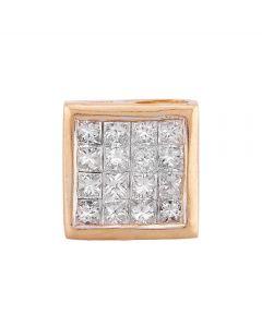 Second Hand 14ct Yellow Gold 0.35ct Diamond Cluster Pendant