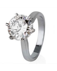Second Hand Platinum 3.45ct Diamond Solitaire Ring
