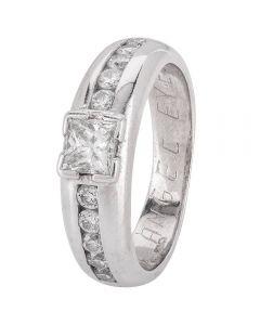 Second Hand 14ct White Gold Multi Diamond Ring 4328235