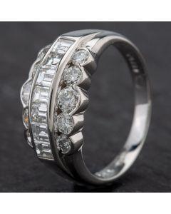 Second Hand Platinum Graduated Diamond Ring 4328464