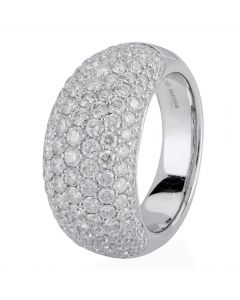 Second Hand 18ct White Gold Diamond Band Ring