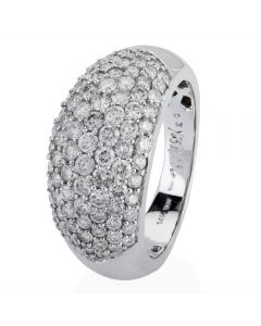 Second Hand 14ct White Gold Diamond Seven Row Ring