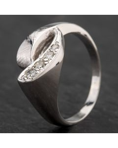 Second Hand White Gold Diamond Mount Fancy Ring 4332897