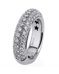 Second Hand 18ct White Gold Pave Set Diamond Ring