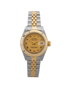 Second Hand Rolex Ladies Oyster Perpetual Datejust Watch 69173(12614) - Year 1994