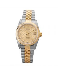 Second Hand Rolex Ladies Oyster Perpetual Datejust Watch 68273(13337) - Year 1990