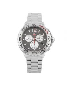 Second Hand TAG Heuer Formula 1 Indy 500 Grey Bracelet Watch CAU1113.BA0858
