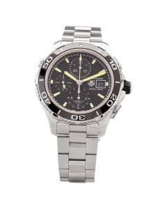 Second Hand TAG Heuer Mens Aquaracer Calibre 16 Black Automatic Bracelet Watch CAK2110.BA0833