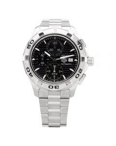 Second Hand TAG Heuer Mens Aquaracer Black Automatic Bracelet Watch CAP2110.BA0833