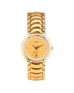 Second Hand Rado Florence Gold Plated Bracelet Watch 129.3645.2