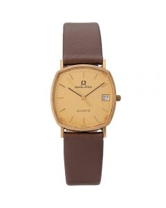 Second Hand Solvil Et Titus 9ct Yellow Gold Brown Leather Strap Watch 4410073