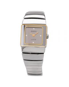 Second Hand Rado Ladies Jubile DiaStar Diamond Two Tone Bracelet Watch 111.0333.3