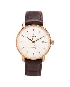 Second Hand Rado Mens Coupole Classic Automatic Brown Leather Strap Watch 4410272
