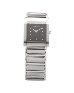 Second Hand Rado Mens Jubile Diastar Diamond Silver Titanium Bracelet Watch