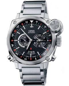 Second Hand Oris BC4 Flight Timer Black Bracelet Watch 01 690 7615 4154-07 8 22 58