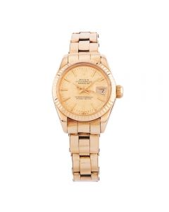 Second Hand Rolex Ladies Oyster Perpetual Datejust Watch 6917 - Year 1978