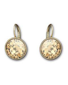 Swarovski Bella Gold Tone Faceted Crystal Drop Earrings 901640
