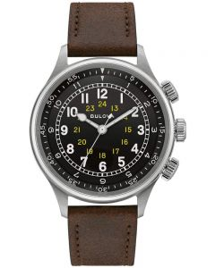 Bulova Mens A15 Pilot Automatic Strap Watch 96A245