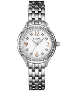 Bulova Ladies Crystal Bracelet Watch 96L212