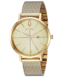 Bulova Ladies Classic Gold Tone Mesh Strap Watch 97M115