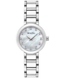 Bulova Ladies Ceramic Diamond Watch 98P158