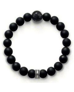 THOMAS SABO 19cm Matt Obsidian Bracelet A1085-023-11-L