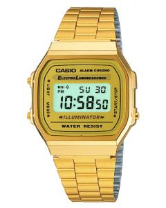 Casio CASIO Collection Retro Digital Gold Bracelet Watch A168WG-9EF