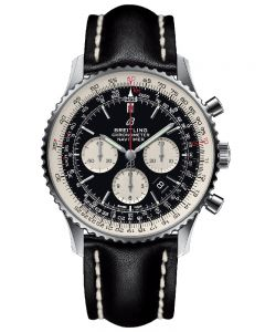 Breitling Mens Navitimer 1 B01 Chronograph 46 Leather Strap Watch AB0127211B1X1
